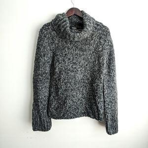 Express Handknit Medium Gray Sweater